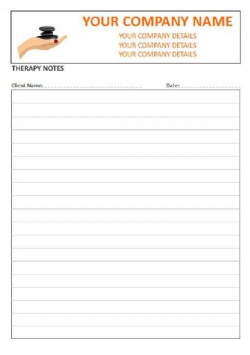Massage Therapist, Lined Style Therapy Note Pads